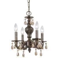 Crystorama Traditional 4-light Venetian Bronze Chandelier