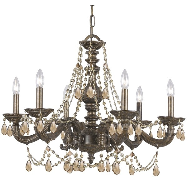 Crystorama Sutton Collection 6-light Venetian Bronze Chandelier. Opens flyout.