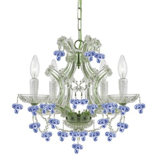 Crystorama Maria Theresa Collection 4-light Chrome/ Crystal Chandelier