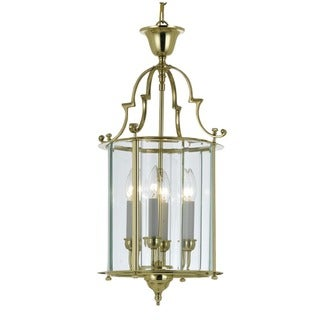 Camden 4-light Pendant in Polished Brass