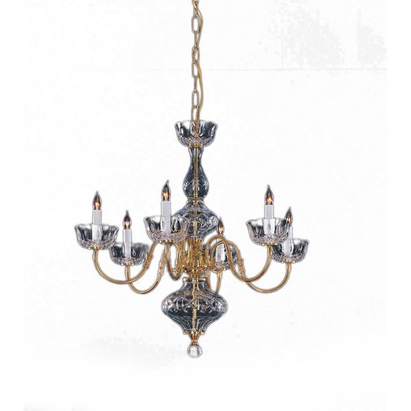 Crystorama Colonial Collection 6-light Polished Brass Chandelier