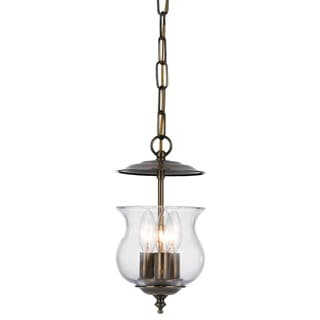 Crystorama Ascott Collection 3-light Antique Brass Pendant