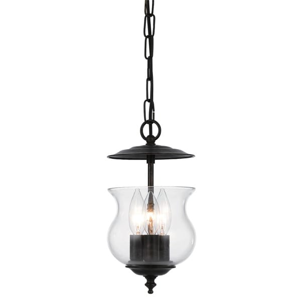 Crystorama Ascott Collection 3-light English Bronze Pendant