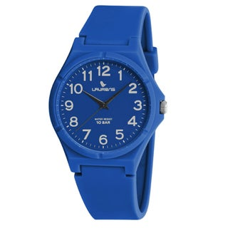 Laurens Kids' Italian Design Blue Rubber Analog Watch