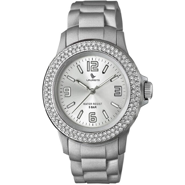 Laurens Women's Soft Rubber Crystal Watch