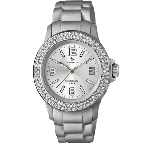 Laurens Women's Soft Rubber Crystal Watch