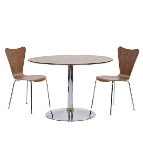 Carson Carrington Havmryan Walnut Table and Chairs