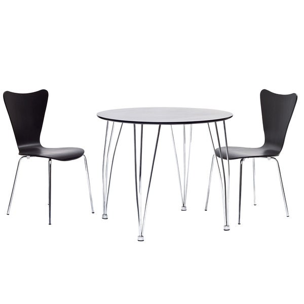 Black Dining Table and Chair Set