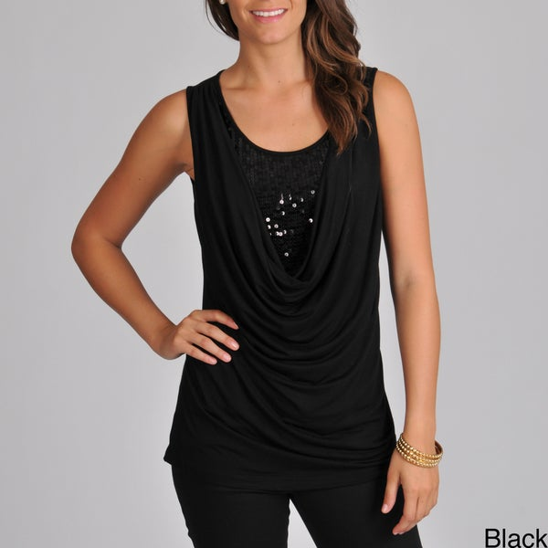 Focus 2000 Women's Sleeveless Tunic with Sequin Insert
