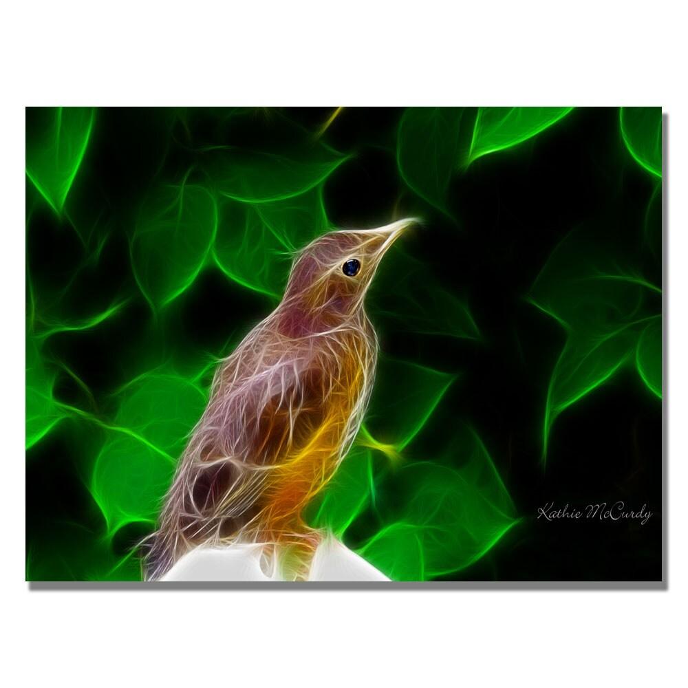 Kathie McCurdy 'Little Bird' Canvas Art