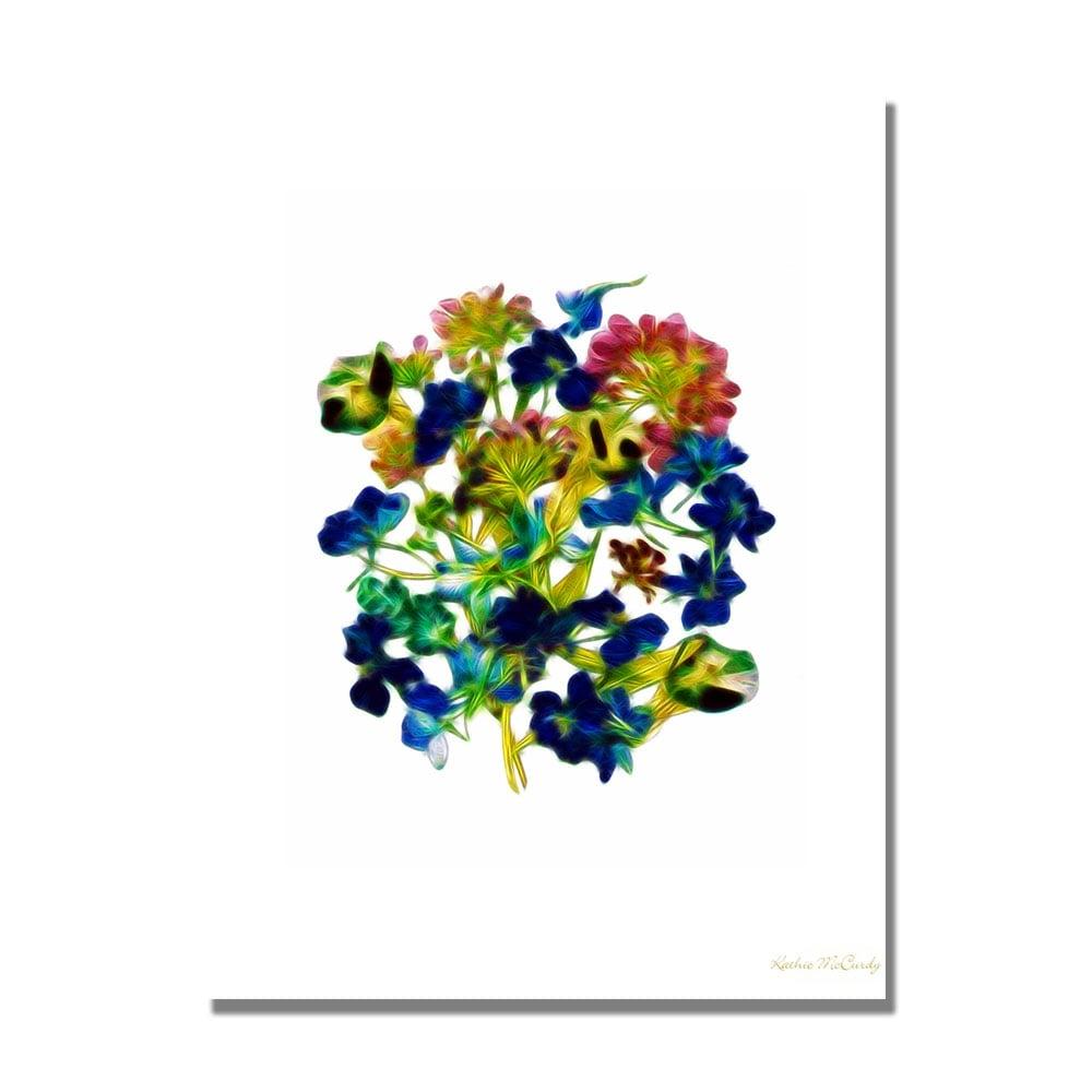 Kathie McCurdy 'Blue Delphiniums Small Clean' Canvas Art