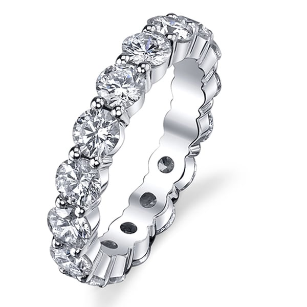 14k White Gold 1 7/8ct TDW Diamond Eternity Ring (G-H, SI1-SI2)