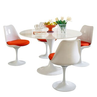 Eero Saarinen Red Cushion Dining Set