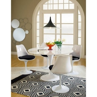 Eero Saarinen Black Cushions Dining Set