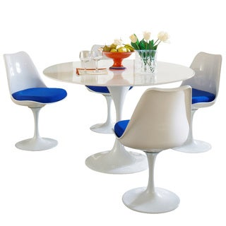 Eero Saarinen Blue Cushion Dining Set