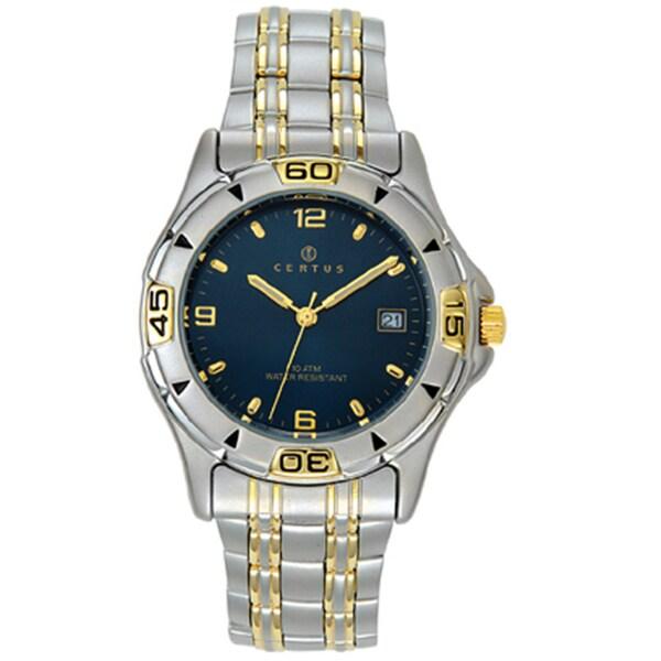 Certus Paris Men's Two-tone Brass Date Watch