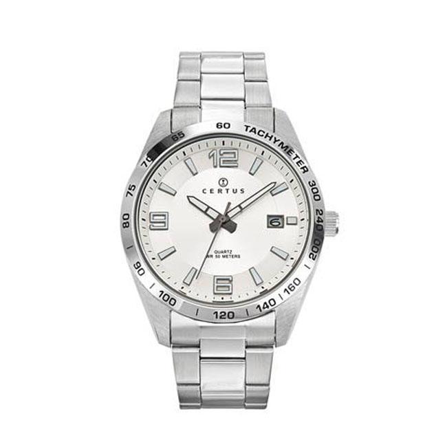 Certus Paris Men's Stainless Steel Tachymeter Watch, Silv...
