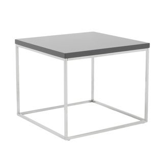 Euro Style 'Teresa' Grey Lacquer Side Table