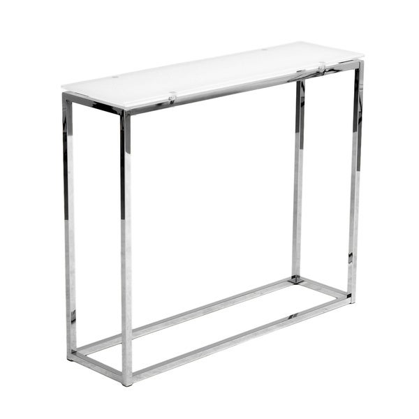 Euro style 39 sandor 39 white console table free shipping for 65 sofa table