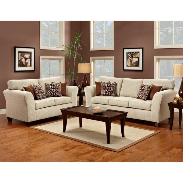 Furniture Of America Reese 2 Piece Sofa And Loveseat Set