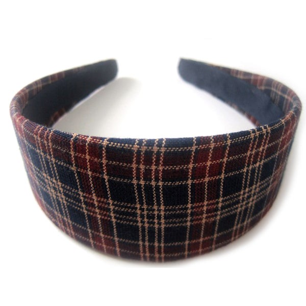 Crawford Corner Shop Navy/Wine Plaid One-size-fits-all Headband