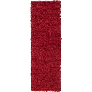 Hand-woven Grand Red Wool (2'6 x 8')