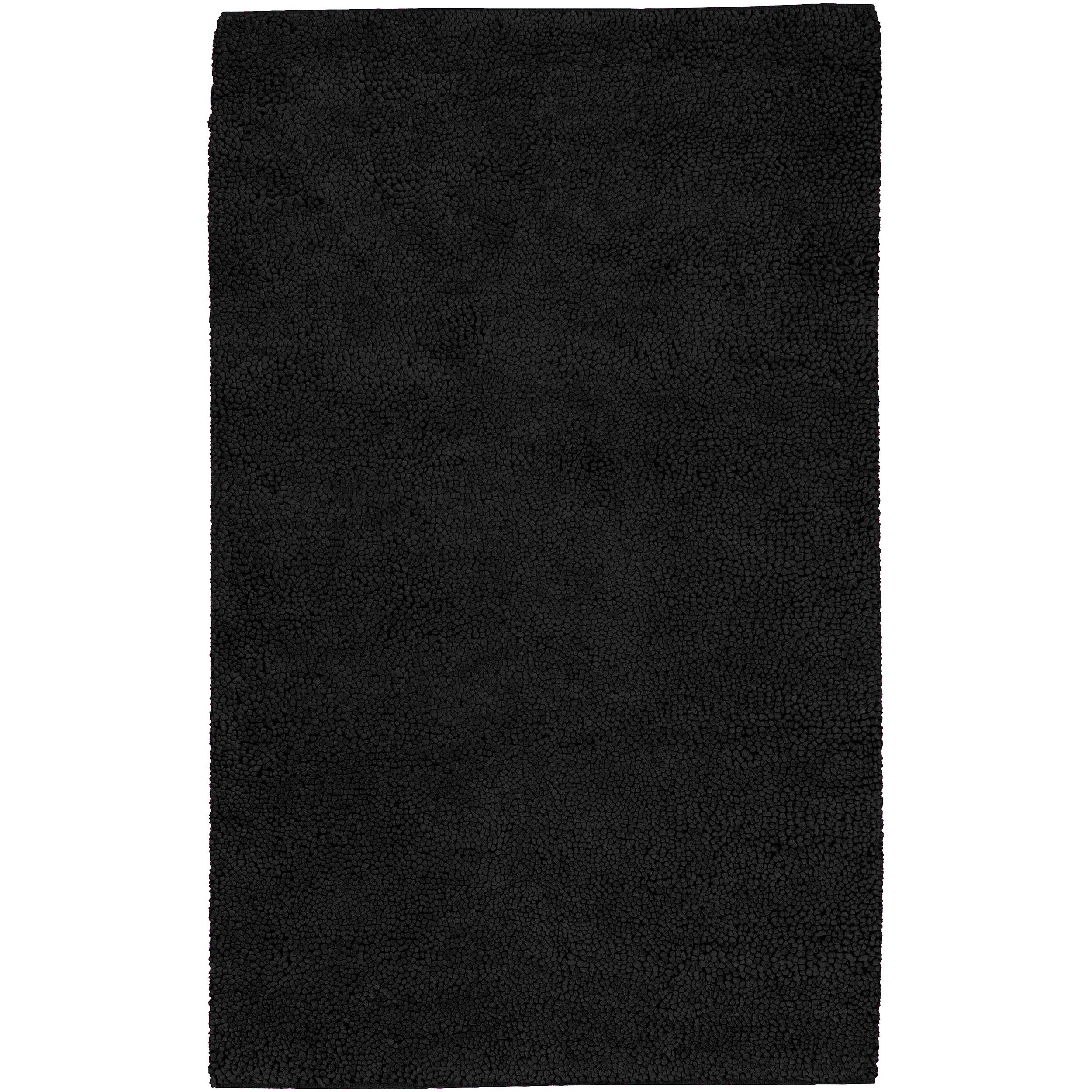 Hand-woven Lincoln Black Wool Rug (4' x 10')