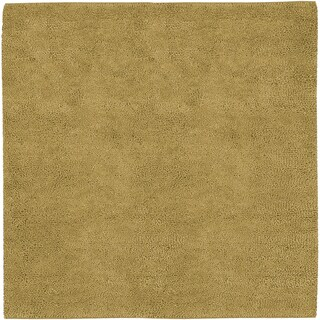 Hand-woven Tell Gold Wool Rug (8' Square)