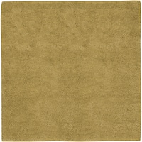 Hand-woven Tell Gold Wool Area Rug (8' Square)