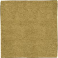 Hand-woven Tell Gold Wool Area Rug - 8' x 8'