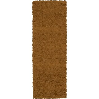 Hand-woven Akron Brown Wool Area Rug (4' x 10')