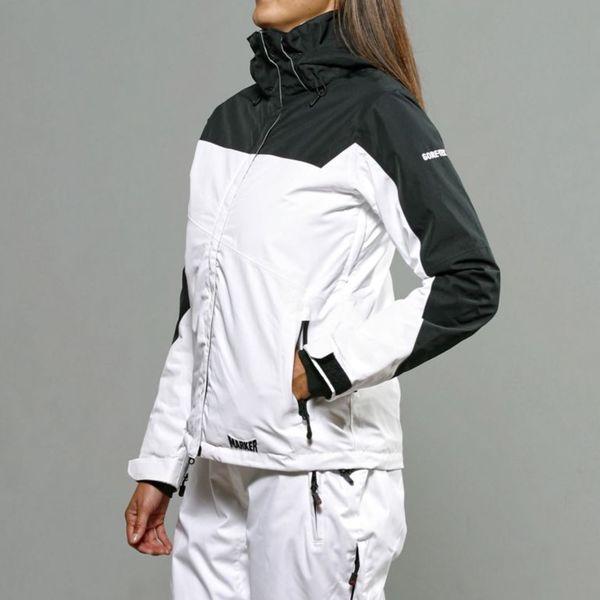 Marker Women's 'Zenith' White/ Black Insulated Ski Jacket