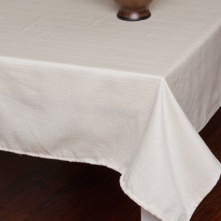 Ivory Textured Tablecloth