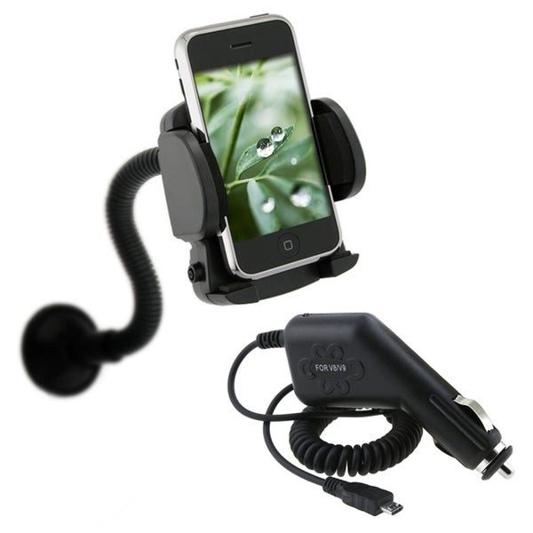 INSTEN Car Phone Holder Cradle/ Charger for LG Optimus S Sprint