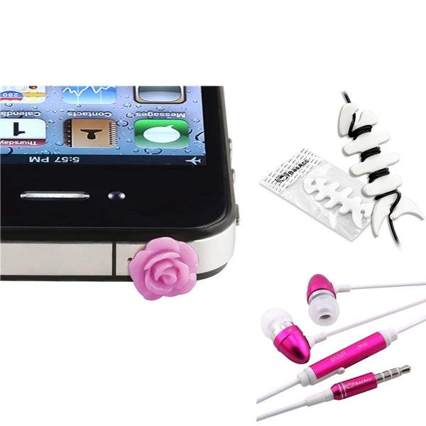 INSTEN Rose Dust Case Cover/ Headset/ Headset Wrap for