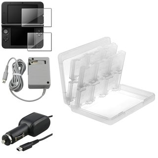 INSTEN Protector/ Travel/ Car Charger/ Card Case Cover for Nintendo 3DS