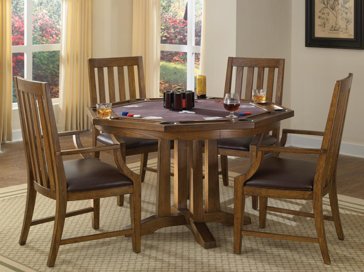 Shop Arts And Crafts 5 Piece Game Table Set By Home Styles   Free Shipping  Today   Overstock.com   7184121
