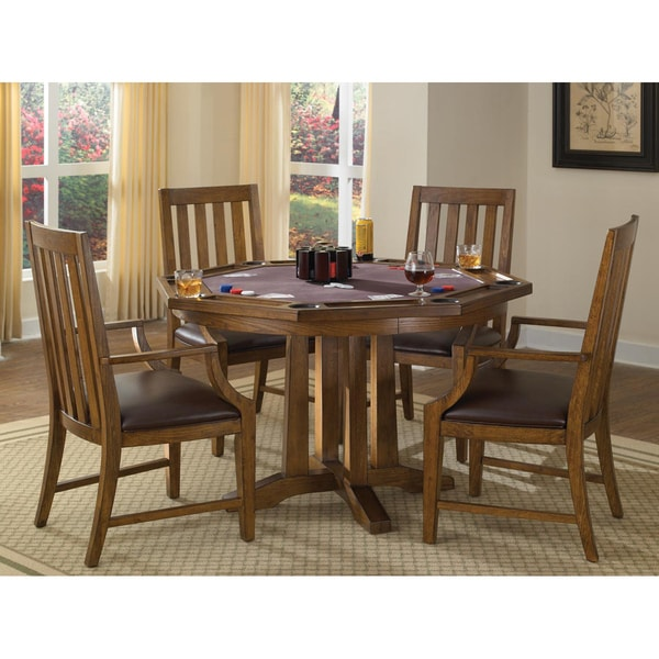 Home Styles Arts and Crafts 5-piece Game Table Set
