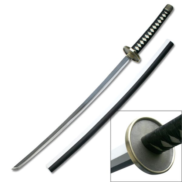 Master Cutlery Two-tone Samurai Sword with Leather Wrapped Handle