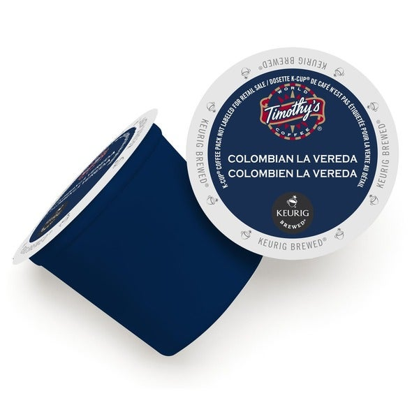 Timothy's World Coffee Colombian La Vereda K-Cups for Keurig Brewers