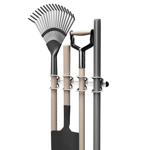 Wall Mounted Storage Rack- Durable Universal Utility Tool Holder by Stalwart