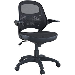 candid sleek office mesh chair with flip up arms - free shipping