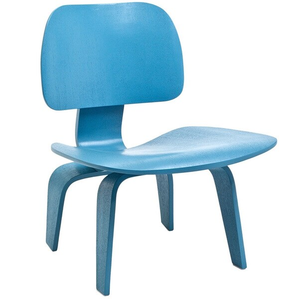 Molded Light Blue Plywood Lounge Chair