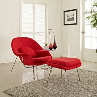 Eero Saarinen Style Chair/ Ottoman Set