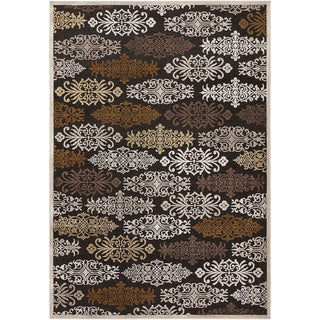 Barb Ivory Viscose/Chenille Damask Print Rug (2'2 x 3')