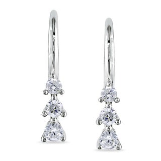 Miadora 10k White Gold 1/4ct TDW Diamond Earrings
