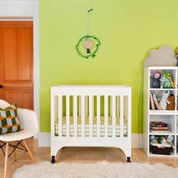 Babyletto 'Grayson' White Mini Crib with Pad