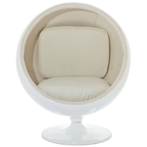Eero Aarnio Style Kids Ball Chair in White