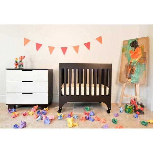 Babyletto Grayson Mini Crib with Pad in Espresso