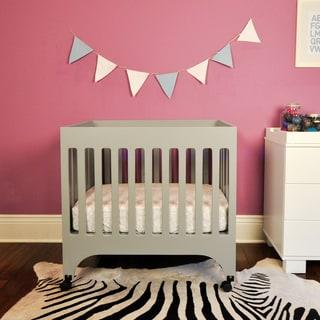 Shop Babyletto Grayson Grey Mini Crib With Pad Free
